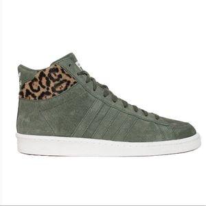 Adidas Originals Hook Shot II Green Leopard Suede